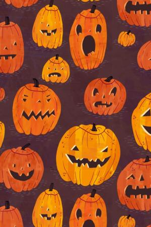 Halloween Pumpkins Pattern IPhone Wallpaper Mobile Wallpaper