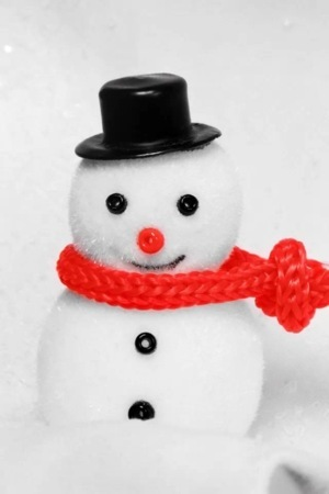 Happy Snowman IPhone Wallpaper Mobile Wallpaper