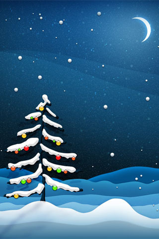Christmas Tree Night IPhone Wallpaper Mobile Wallpaper