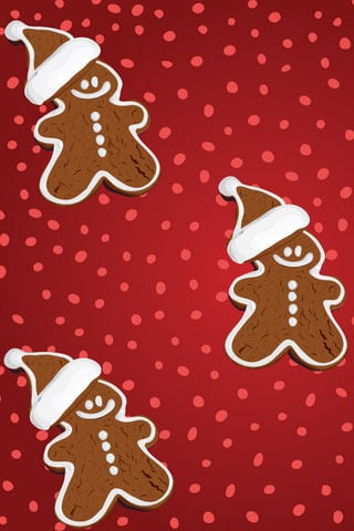 Gingerbread Christmas IPhone Wallpaper Mobile Wallpaper