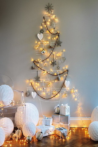 Xmas Wire Hanger Tree IPhone Wallpaper Mobile Wallpaper