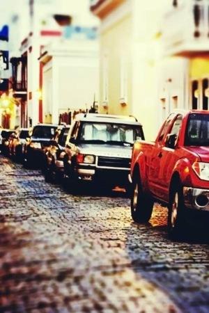 Street Cars Parking IPhone Wallpaper Mobile Wallpaper