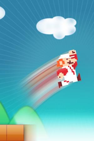 Super Mario Jump IPhone Wallpaper Mobile Wallpaper