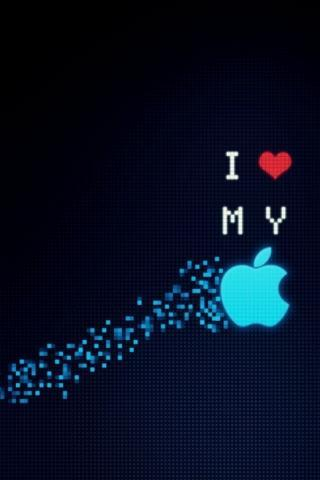 I Heart My Apple IPhone Wallpaper Mobile Wallpaper