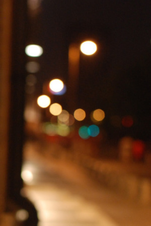Night Street Bokeh IPhone Wallpaper Mobile Wallpaper