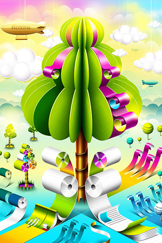 3D Colors Design For IPhone Wallpaper Mobile Wallpaper