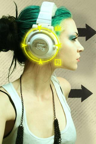 Music Green Girl IPhone Wallpaper Mobile Wallpaper