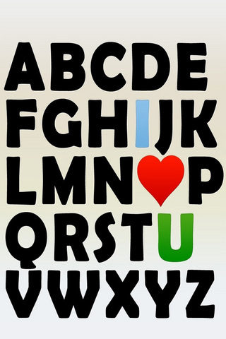 Love Alphabet IPhone Wallpaper Mobile Wallpaper