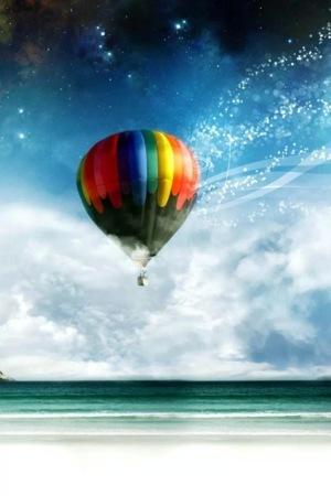 Air Balloon Shine Sky IPhone Wallpaper Mobile Wallpaper