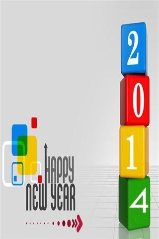 2014 Happy New Year IPhone Wallpaper Mobile Wallpaper