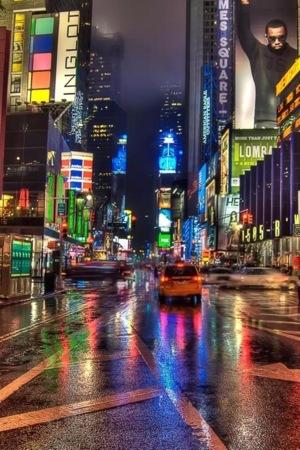 Lights City Night IPhone Wallpaper Mobile Wallpaper