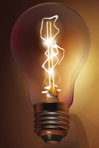 3D Light Bulb IPhone Wallpaper Mobile Wallpaper