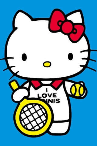 Kitty Love Tennis IPhone Wallpaper Mobile Wallpaper