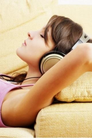 Beauty Listen Music IPhone Wallpaper Mobile Wallpaper