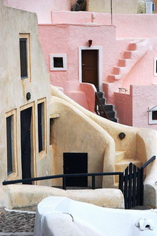 House Santorini Greece IPhone Wallpaper Mobile Wallpaper