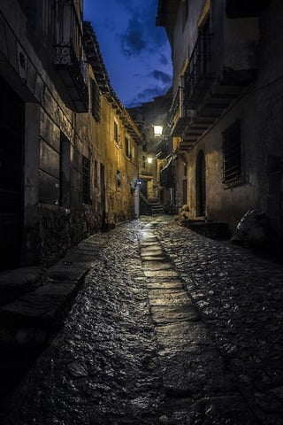 Night In Albarracin Teruel Spain IPhone Wallpaper Mobile Wallpaper