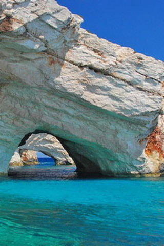 Blue Caves Zakynthos Island Greece IPhone Wallpaper Mobile Wallpaper