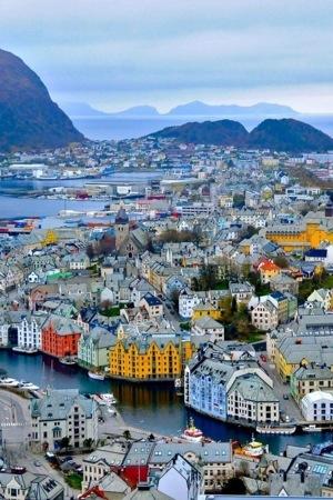 Colors Houses In Norwegian Town IPhone Wallpaper Mobile Wallpaper