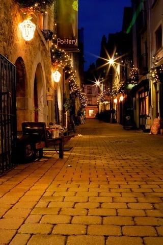 Street Lights In Galway Ireland IPhone Wallpaper Mobile Wallpaper