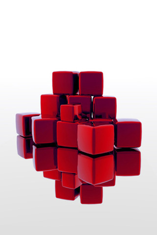 Red Cubes IPhone Wallpaper Mobile Wallpaper