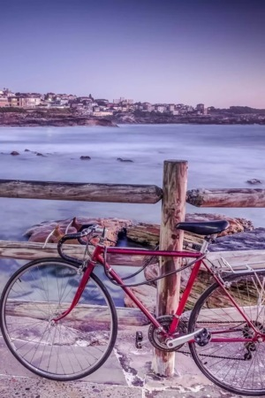 Bicycle On Sea IPhone Wallpaper Mobile Wallpaper