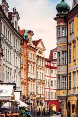 Prague Street Corner IPhone Wallpaper Mobile Wallpaper