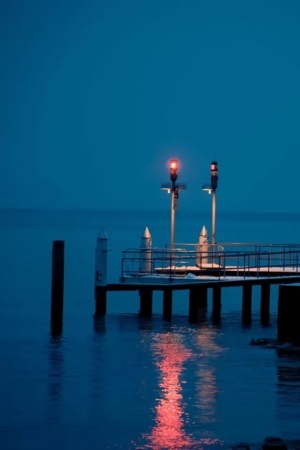 Night Blue Dock IPhone Wallpaper Mobile Wallpaper