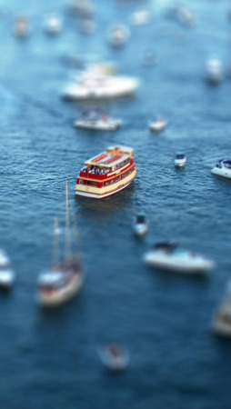 Tilt Shift Ships IPhone Wallpaper Mobile Wallpaper
