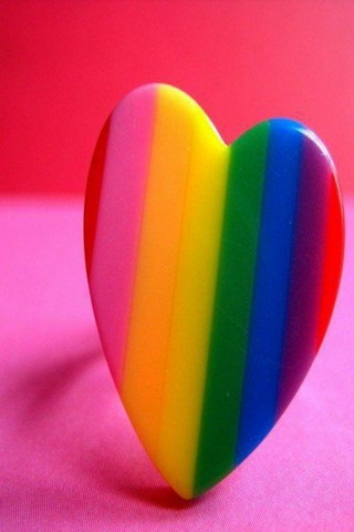 Rainbow Heart IPhone Wallpaper Mobile Wallpaper