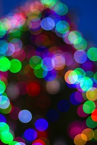 Colored Lights Bokeh IPhone Wallpaper Mobile Wallpaper