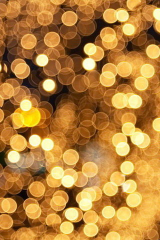 Gold Glitter Lights IPhone Wallpaper Mobile Wallpaper