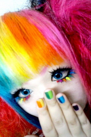 Rainbow Chines Girl IPhone Wallpaper Mobile Wallpaper
