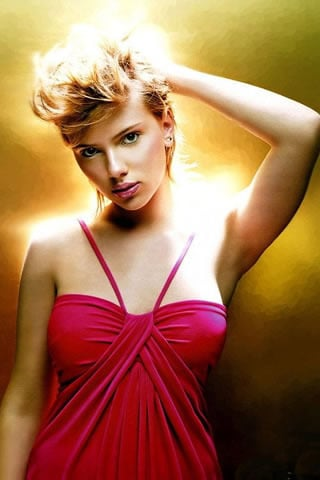 Scarlett Johansson In Dress IPhone Wallpaper Mobile Wallpaper