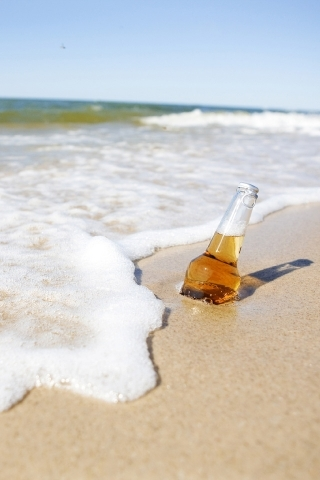 Bottle On Sea IPhone Wallpaper Mobile Wallpaper