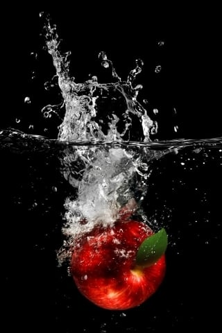 Water Red Apple IPhone Wallpaper Mobile Wallpaper