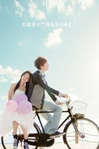 Lovers On Bicycle IPhone Wallpaper Mobile Wallpaper