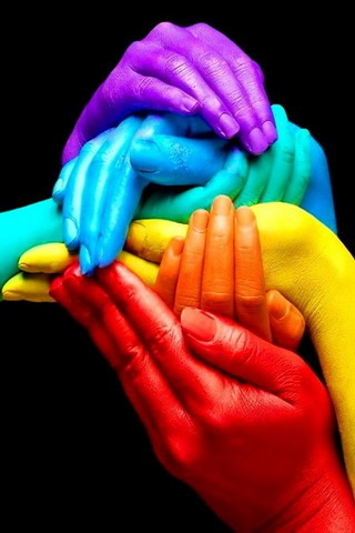 3D Rainbow Hands Colors IPhone Wallpaper  Mobile Wallpaper