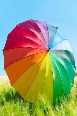 Rainbow Umbrella IPhone Wallpaper Mobile Wallpaper