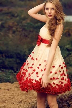 Rose Petal Girl Skirt IPhone Wallpaper Mobile Wallpaper