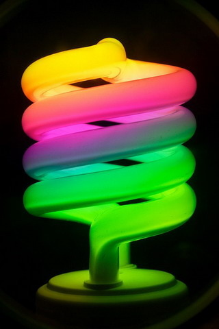 Rainbow Energy Saver IPhone Wallpaper Mobile Wallpaper