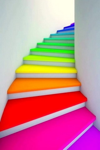 Rainbow Stairs IPhone Wallpaper Mobile Wallpaper