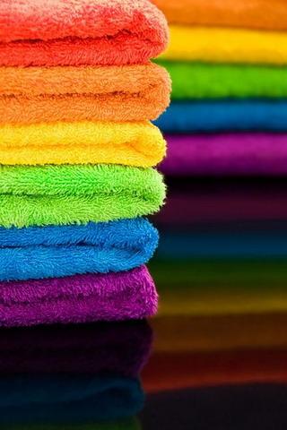 Rainbow Towels IPhone Wallpaper Mobile Wallpaper