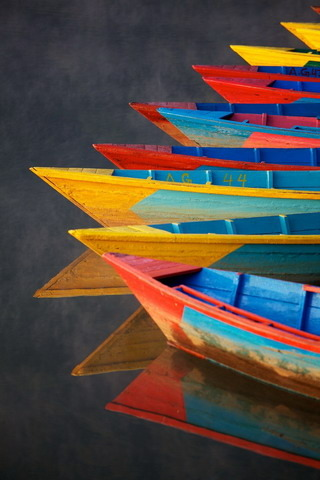 Rainbow Boats On Sea IPhone Wallpaper Mobile Wallpaper