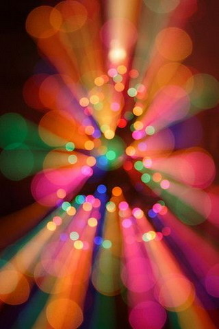 Bokeh Colors Lights Effect IPhone Wallpaper Mobile Wallpaper