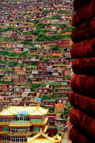 Beautful Houses In Sichuan China IPhone Wallpaper Mobile Wallpaper
