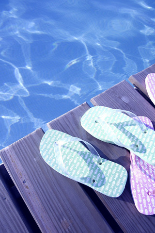Sandals At The Pool IPhone Wallpaper Mobile Wallpaper