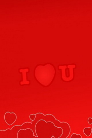 Red Love You Valentine IPhone & Android Wallpaper Mobile Wallpaper