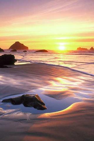 Beach & Sunset IPhone Wallpaper Mobile Wallpaper