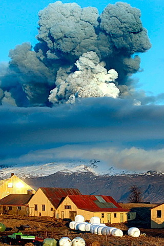 Clouds Icelands Volcano IPhone Wallpaper Mobile Wallpaper