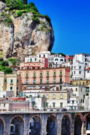 Nice City Positano IPhone Wallpaper Mobile Wallpaper
